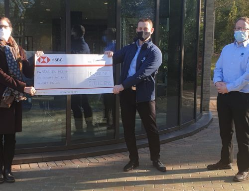 Company Thanks Army Covid-19 Testing Team with £1,500 Donation